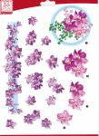 "Sullivans - 3D Die-Cut Decoupage Sheet 8.3""X11.69"" - Flowers Purple"