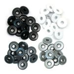 We R Memory Keepers - Wide Eyelets - 40/Pkg - Cool Metal