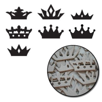 Maya Road - Crowns Mini Chipboard Set
