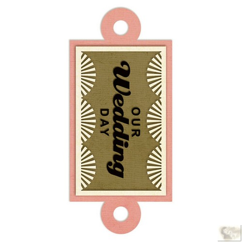 We R Memory Keepers - Embossed Tags Our Wedding Day