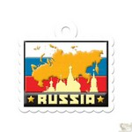 We R Memory Keepers - Destination Die Cut Embossed. Tags - Russia