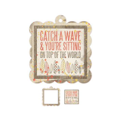 We R Memory Keepers - Down The Boardwalk - Embossed Diecuts - Catch a Wave